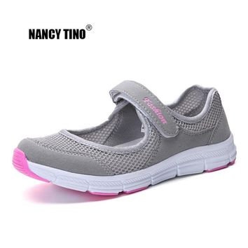 NANCY TINO Women Breathable Athletic Shoe Quick-drying Non-slip Soft Sole Flat Sneakers Female Outdoor Sport Walking Shoes 35-42