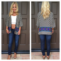Borderline Baroque Printed Cardigan