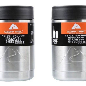 Ozark Trail 12 Ounce Double Wall Can Koozie Cup - Set of 2