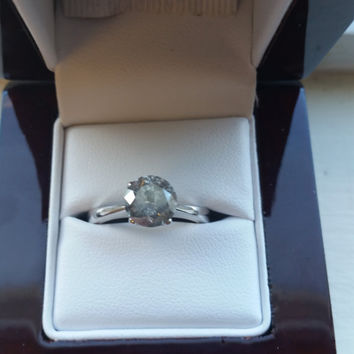 1.69 F Color Diamond Ring 14K White Gold IGL Certified Inscribed Anniversary Solitaire Certified Jewelry Huge Limited Time !! Sale Hurry!!!