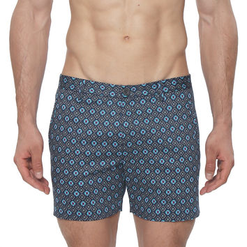 Medallion Print Stretch Vintage Holler Mid-Thigh Short