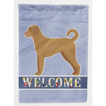 Tan Labradoodle Welcome Flag Canvas House Size CK3752CHF