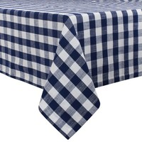 Blue Checkered BBQ Tablecloth