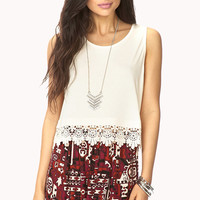 Femme Crocheted Cropped Tank