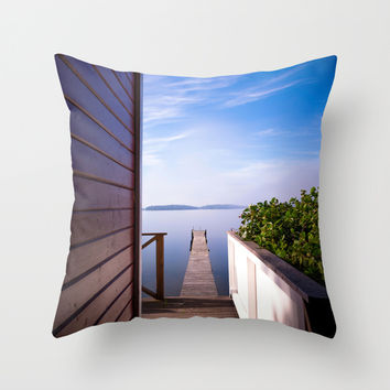Not France... Throw Pillow by HappyMelvin