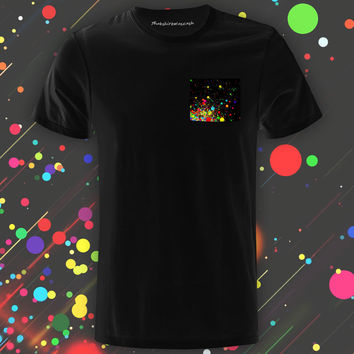 Supersonic Paint Black Pocket Tee