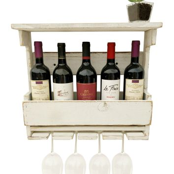 Reclaimed Wood Wine Rack - Shabby Chic