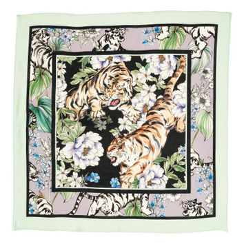 H&M Patterned Silk Scarf $39.99