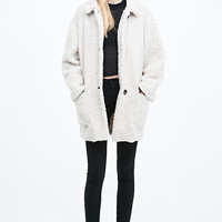 Cooperative Teddy Coat in Neutral - Urban Outfitters