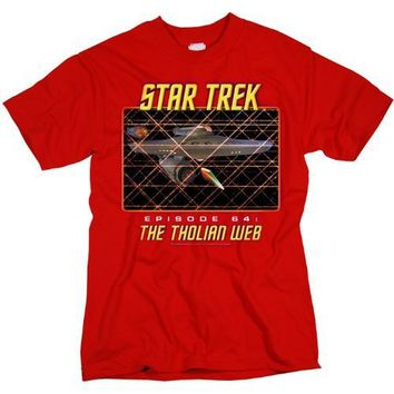 Trevco St-Original-The Tholian Web - Short Sleeve Adult 18-1 Tee - Cardinal, Medium