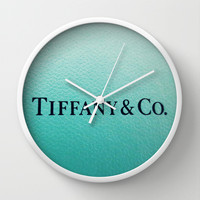 Tiff Any Wall Clock by Christine Leanne
