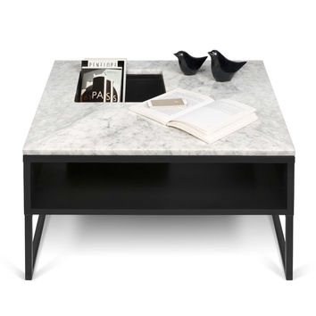 Sigma Coffee Table White Marble / Black