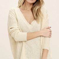 This Town Light Beige Sweater