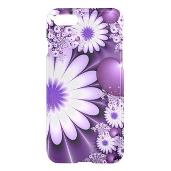 Falling in Love Abstract Flowers & Hearts Fractal iPhone 8/7 Case