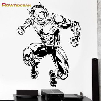 ROWNOCEAN The Avengers Ant-Man Creative Wall Stickers Home Decor Living Room Vinilos Decorativos Kids Bedroom Removable Mural K7