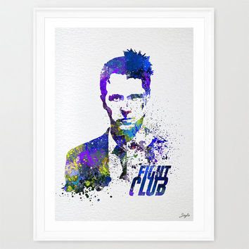 Fight Club Watercolor illustration Art Print,Kids Art Print,Home Decor,Movie Poster,Wedding,Birthday Gift, #191