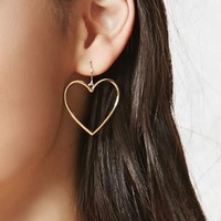 Cutout Heart Drop Earrings