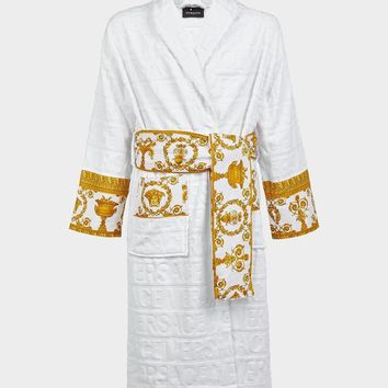 Barocco Printed Bathrobe by Versace