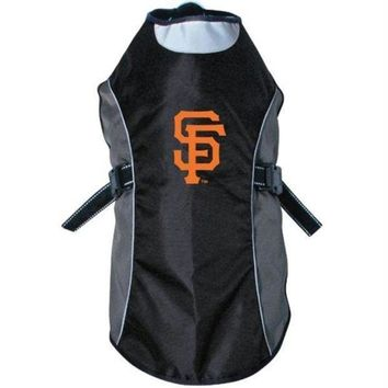 ONETOW San Francisco Giants Water Resistant Reflective Pet Jacket