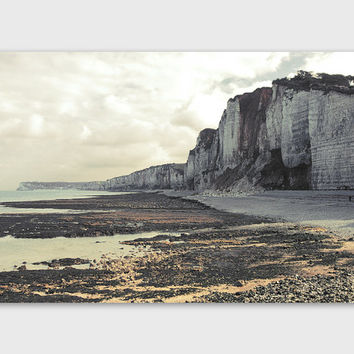 France Oceanside Cliff Print. French Landscape Photo. Oceanside Scenery Fine Art Print. Normandy Coast. Yport And Fecamp. Nautical Landscape