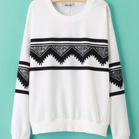 'The Kaethe' Geometric Printed Sweater