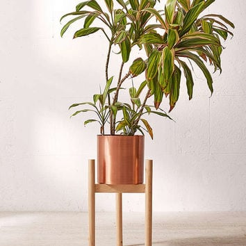 Henrik Wood Dowel Plant Stand | Urban Outfitters
