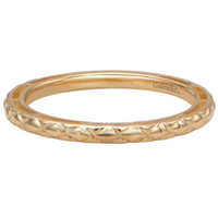 "Gabriel 14K Yellow Gold ""Cross Cross"" Stackable Ring"