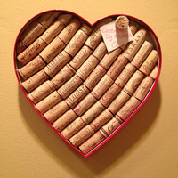 Heart Shaped Wine Cork Board