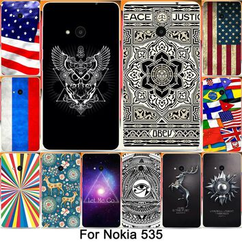 New Designs Funny National Flag Let Me Go Painted Cases For Microsoft Nokia Lumia 535 N535  Mobile Phone Case Cover Shell Capa