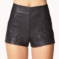Paneled Faux Leather Shorts | FOREVER 21 - 2074876399