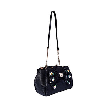DAISYD AND CONFUSED BOW SATCHEL: Betsey Johnson