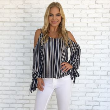 Radiant Shine Stripe Blouse