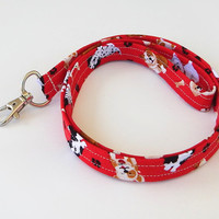 Dog Lanyard / Puppy Keychain / Cute Lanyards / Yorlies / Key Lanyard / ID Badge Holder / Fabric Lanyard / Dog Breeds / Puppies / Bulldogs