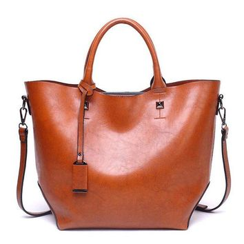 Vintage Tassel Quality PU Leather Totes Bags Large Capacity