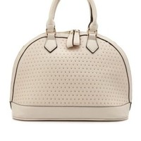 Zip-Around Studded Satchel by Charlotte Russe