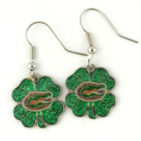 Florida Gators Clover Earrings