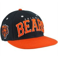 Chicago Bears Navy Blue-Orange Big Text Snapback Adjustable Hat