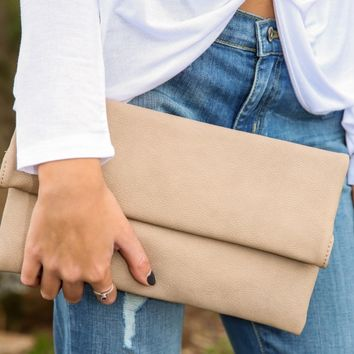 To Have & To Hold Clutch-Beige