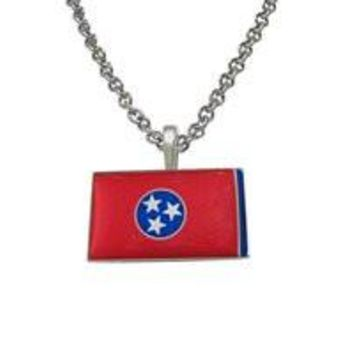 Tennessee State Flag Pendant Necklace