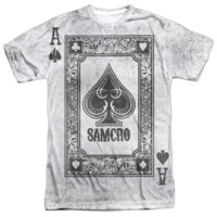 SONS OF ANARCHY ACE OF SPADES Short Sleeve T-Shirt 100% Polyester