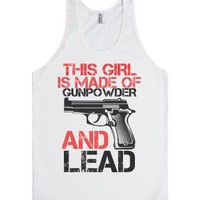 Gunpowder and Lead-Unisex White Tank