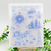 Sailing Anchor Transparent Clear Silicone Stamp Seal for DIY scrapbooking photo album Decorative clear stamp sheets
