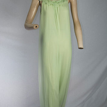 Vintage 60s Green Genie Pajamas Romper Pin-up Lingerie