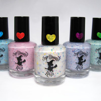 FULL SIZE - Spring 2014 Collection - Custom Pastel Glitter Crelly Nail Polish
