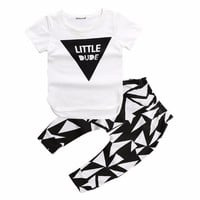 Free shipping 2017 Summer style infant clothes baby clothing sets boy Cotton short sleeve 2pcs baby boy clothes