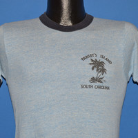 70s Pawley's Island Rayon Tri Blend Ringer t-shirt Extra Small