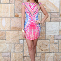 RISE OF DAWN RISQUE DRESS , DRESSES, TOPS, BOTTOMS, JACKETS & JUMPERS, ACCESSORIES, 50% OFF SALE, PRE ORDER, NEW ARRIVALS, PLAYSUIT, COLOUR, GIFT VOUCHER,,Print,Red,BODYCON,SLEEVELESS,MINI Australia, Queensland, Brisbane