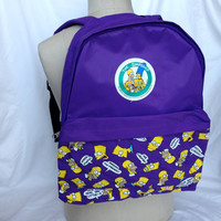 Vintage 1990's The Simpsons Backpack / Bart and Homer / Matt Groening