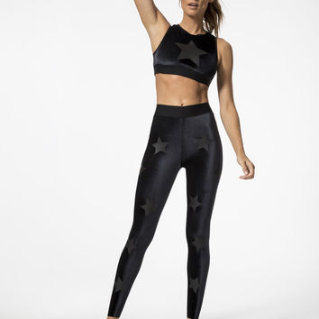 Level Velvet Knockout Medium Support Sport Bra in Nero
