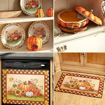 Fall Kitchen Collection Harvest Autumn Decor Colorful Thanksgiving Ceramic